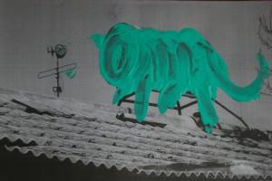 Cat (Back to China), c-print in liquid gloss, 30 x 40 cm, 2009